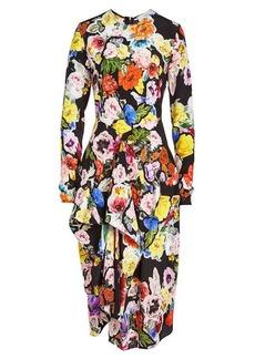 Preen Christine Printed Silk Dress