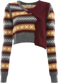 Preen cropped knitted top