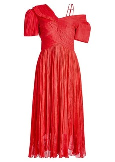 Preen Cyra Silk Chiffon Dress