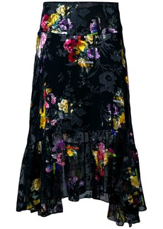 Preen Denisa floral asymmetric skirt