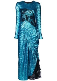 Preen Dinah sequin draped dress