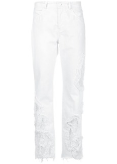 Preen distressed cropped jeans