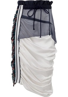 Preen draped drawstring skirt