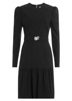Preen Dress with Embellished Brooch