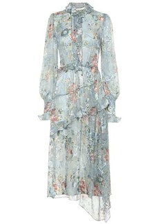 Preen Ellie silk-blend devoré-satin dress