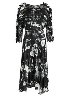 Preen Ermin Printed Dress with Silk Chiffon