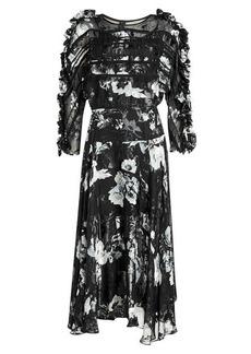 Preen Ermin Printed Dress with Silk Chiffon