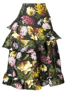 Preen Esta floral frilled skirt