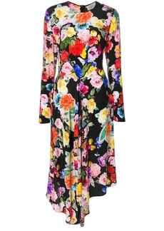 Preen floral asymmetric dress
