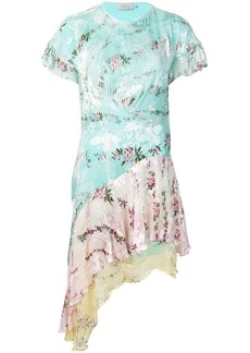 Preen floral print asymmetric dress