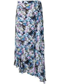 Preen floral print asymmetric skirt