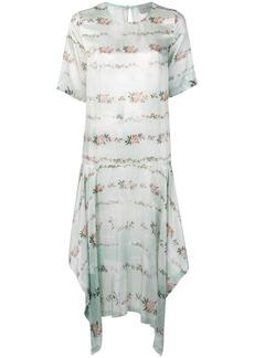 Preen floral print asymmetric T-shirt dress