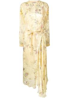 Preen floral print belted dress