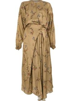 Preen floral print maxi dress
