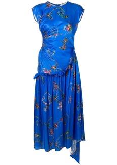 Preen floral print pleated dress