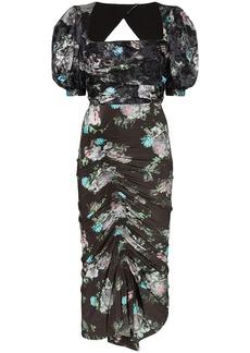 Preen Gizzy floral print midi dress