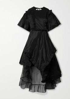 Preen Gloria Asymmetric Cutout Ruffled Taffeta And Organza Dress