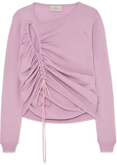 Preen Hyasinth Ruched Merino Wool-blend Sweater