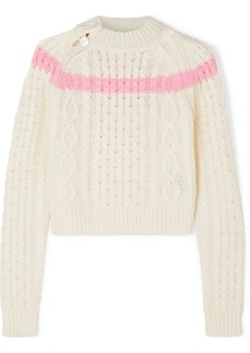 Preen Jessica Striped Cable-knit Sweater