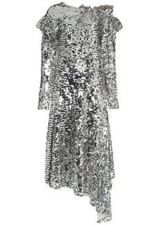 Preen jodie sequin off-the-shoulder midi dress