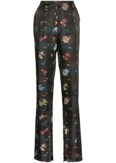 Preen Juno Floral-Jacquard Trousers