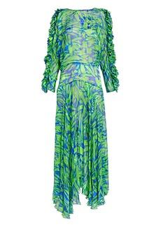 Preen Karen Satin Devore Dress