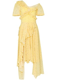 Preen Kennedy ruffle tiered midi dress