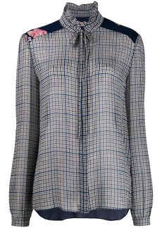 Preen Liana checked blouse