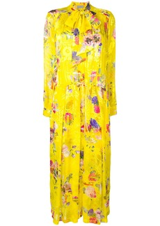 Preen Lupin floral flared dress