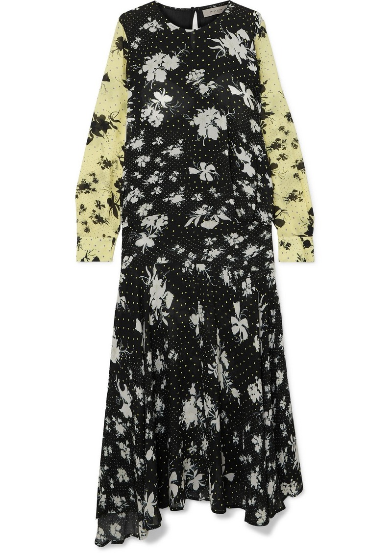 Preen Marin Floral-print Georgette Maxi Dress