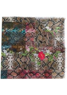Preen Monica snakeskin print scarf