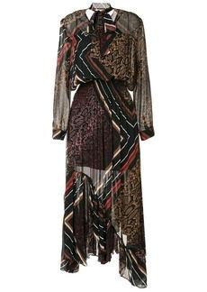 Preen multi-print asymmetric dress