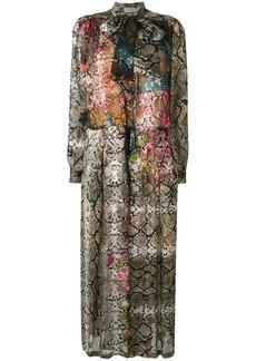 Preen Natasha snakeskin print dress