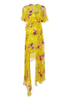 Preen Nickesha Floral Asymmetric Dress