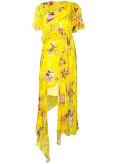 Preen Nickesha floral asymmetric dress