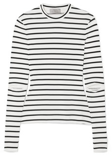 Preen Nikki Cutout Striped Stretch-jersey Top