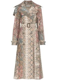 Preen peggy snakeskin print trench coat