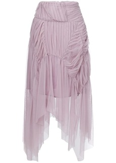 Preen pleated asymmetric skirt