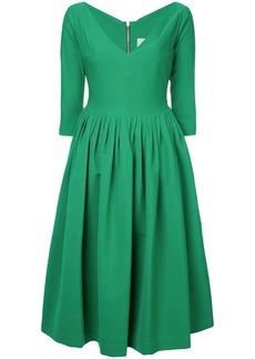 Preen plunge-neck flared dress