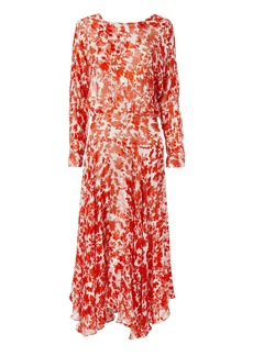 Preen Silk Floral Print Dress