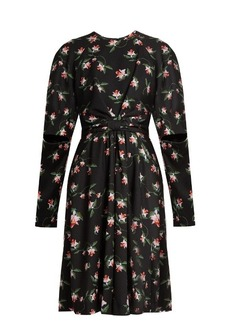 Preen By Thornton Bregazzi Aaron daffodil-print gathered crepe dress