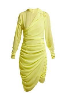Preen By Thornton Bregazzi Alex crinkled-georgette ruched midi dress