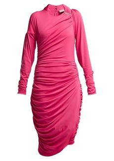 Preen By Thornton Bregazzi Alexandra crinkled-georgette ruched midi dress
