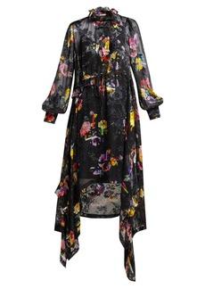 Preen By Thornton Bregazzi Amelia floral-devoré satin midi dress