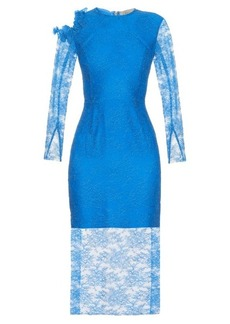 Preen By Thornton Bregazzi Amilna lace-panel midi dress