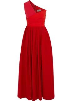 Preen by Thornton Bregazzi April one-shoulder cady midi dress