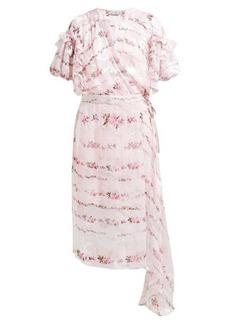 Preen By Thornton Bregazzi Ashley floral-print silk-devoré wrap dress
