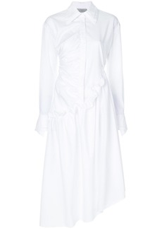Preen By Thornton Bregazzi asymmetric shirt dress - White