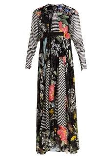 Preen By Thornton Bregazzi Audrey contrast-print devoré dress