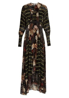 Preen By Thornton Bregazzi Audrey floral-devoré chiffon dress